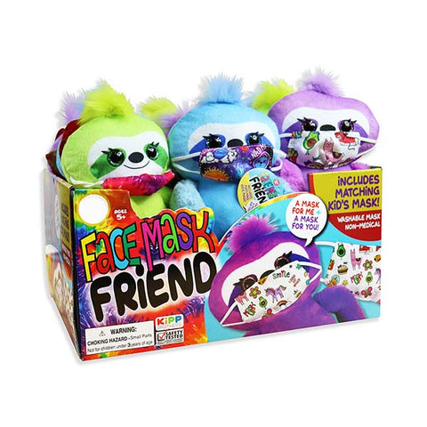 Plush Face Mask Friends with Matching Mask 12 Pack
