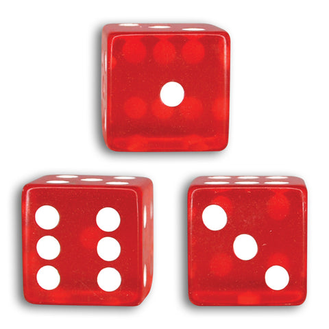 Transparent Red Dice