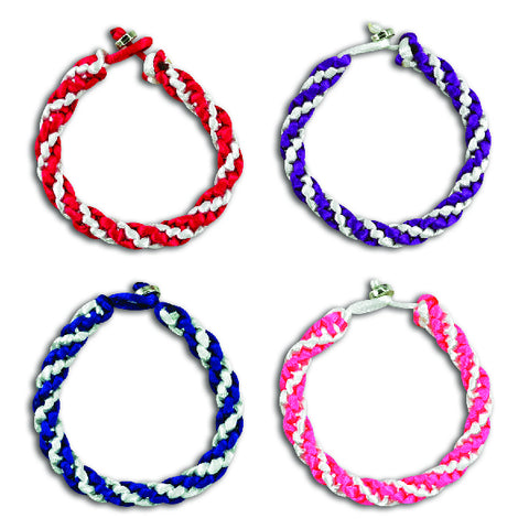 Two Tone Satin Weave Bracelets