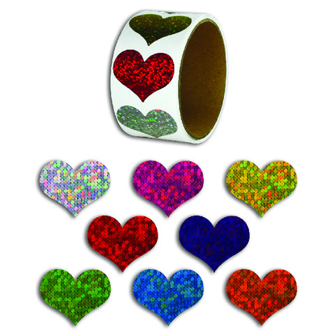 Laser Heart Stickers