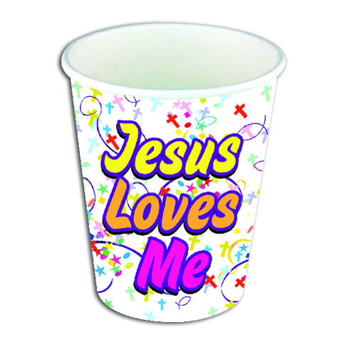 Jesus Loves Me Themed Party Cups