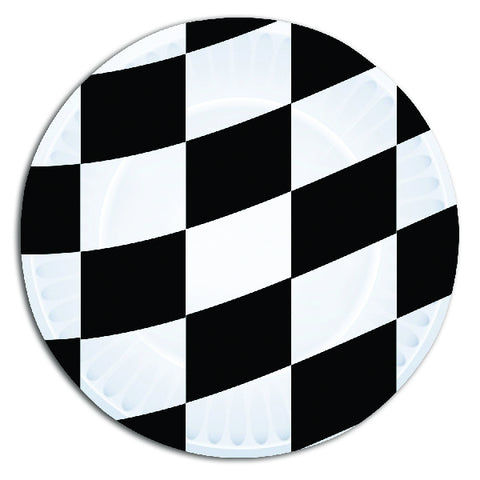 Racing Themed Paper Party Plates