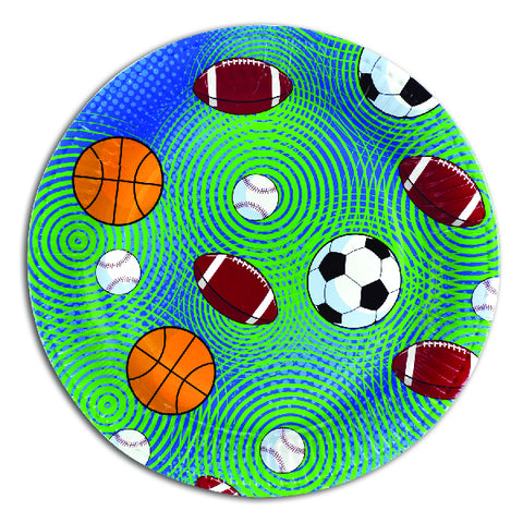 Sporty Themed Paper Party Plates