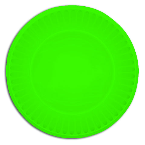 Green Paper Party Plates