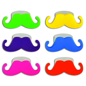 Colorful Mustache Rings