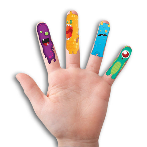 Monster Finger Tattoos