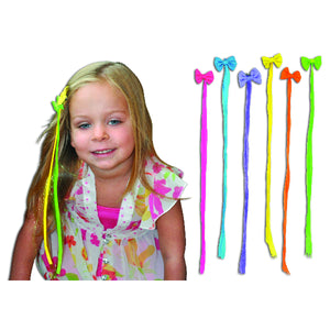 Neon Bow Clip-In Hair Extensions