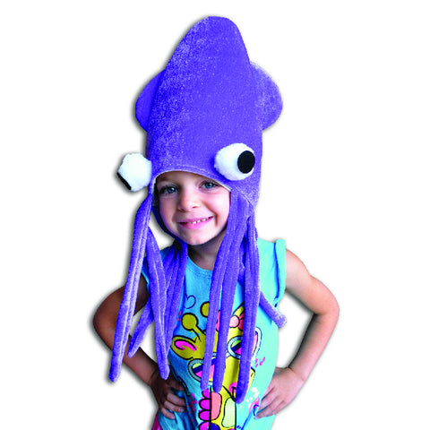 Plush Squid Hat