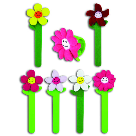 Plush Smile Flower Slap Bracelets