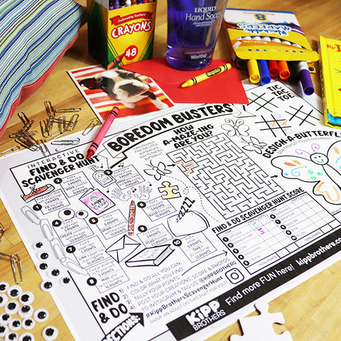 Boredom Buster Activity Placemat Downloadable Template