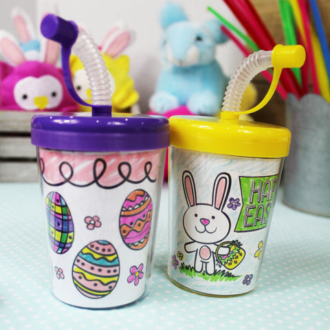 Happy Easter Sipper Cup Insert Downloadable Template