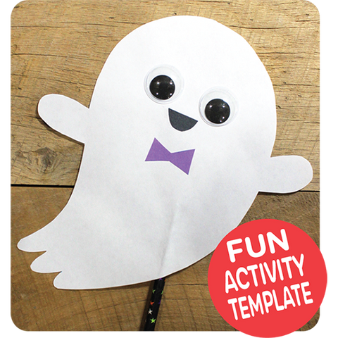 Ghost Puppet Craft Downloadable Template