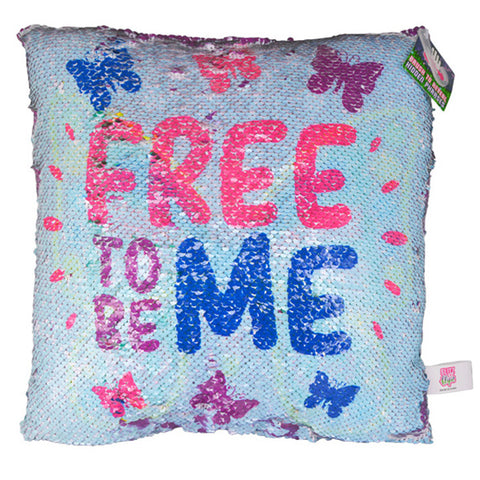 Free to be Me Butterfly Flip Sequin Pillow