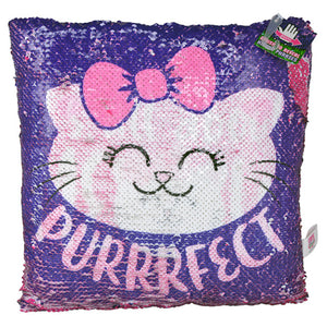 It's All About Meow Flip Sequin Pillow