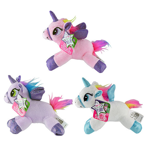 Unicorn With Sound Back Pack Clips