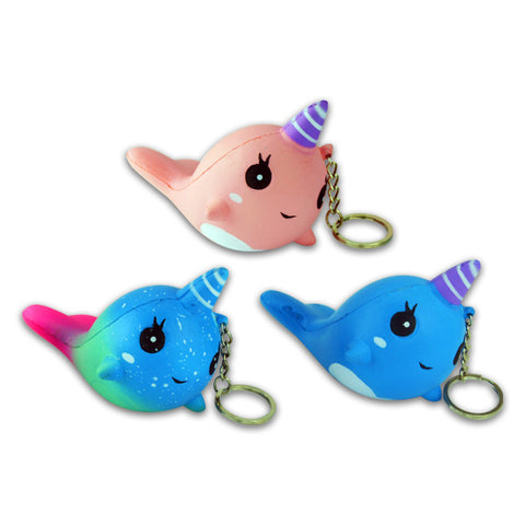 Narwhal Slow Rise Keychains
