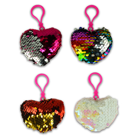 Heart Flip Sequin Backpack Clips