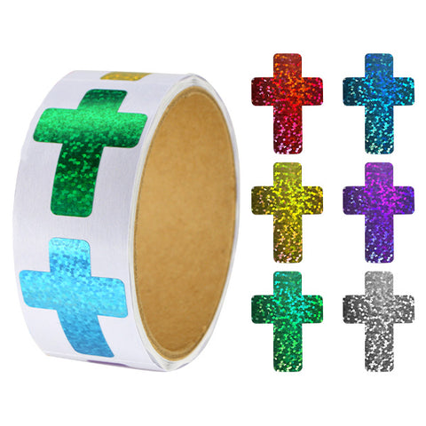 Sparkle Cross Stickers