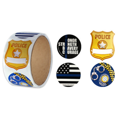 Assorted Police Stickers