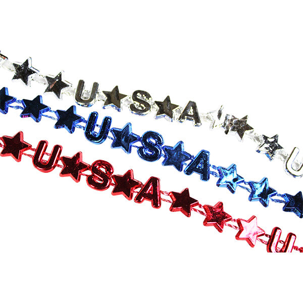 Patriotic USA Bead Necklaces