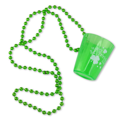 Shamrock Shot Glass Necklaces