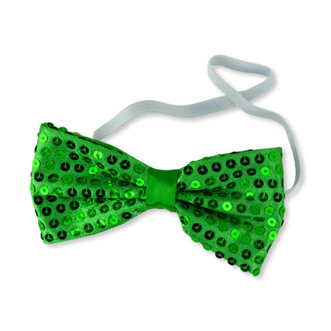 Green Sequin Bow Ties