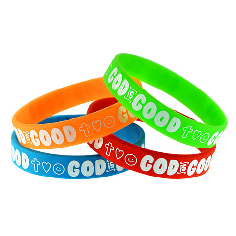 God is Good Silicone Wristbands