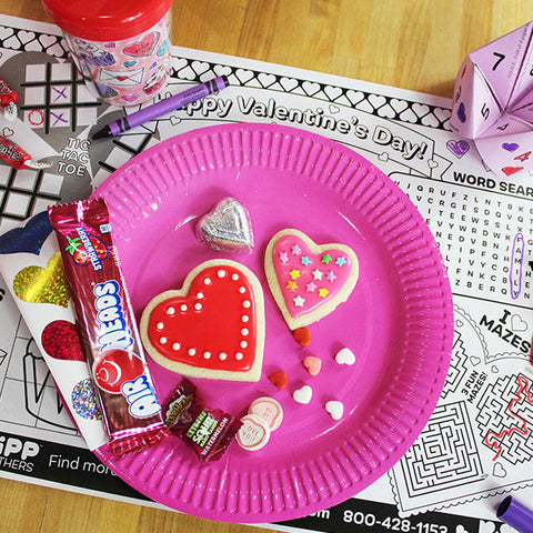 Valentine's Day Party Activity Placemat Downloadable Template