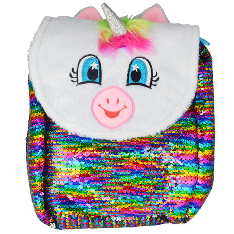 Rainbow Unicorn Flip Sequin Backpack