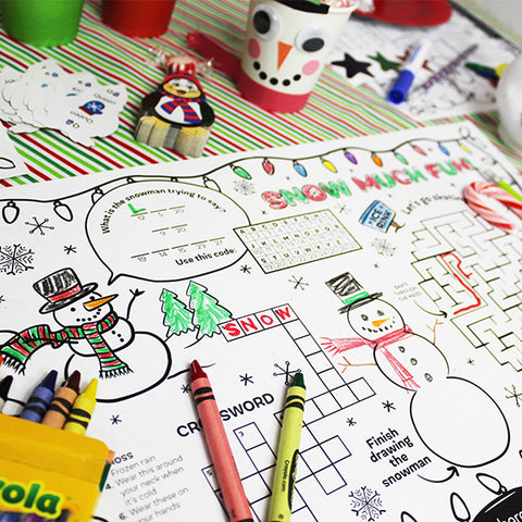 Holiday Party Activity Placemat Downloadable Template