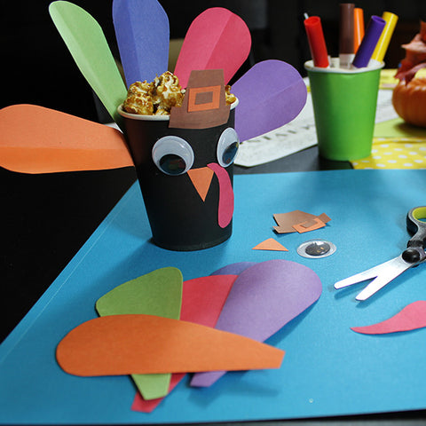 Turkey Treat Cup Craft Downloadable Template
