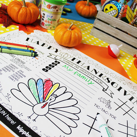 Thanksgiving Kids' Table Activity Placemat Downloadable Template