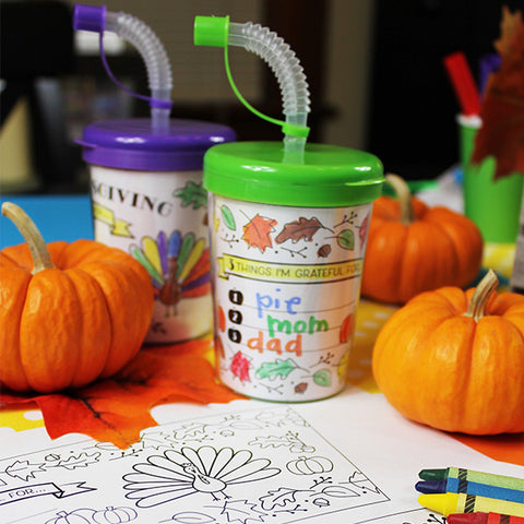 Thanksgiving Sipper Cup Insert Downloadable Template