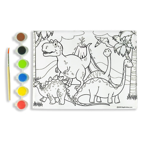 Dinosaur DIY Paint & Canvas Kit