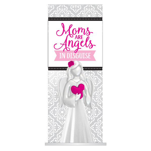 Moms are Angels Large Glass Figurine