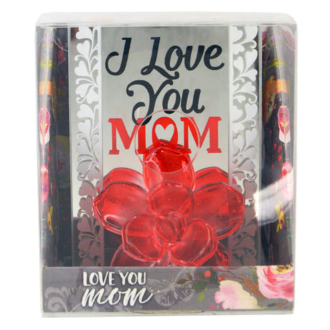 I Love You Mom Small Glass Figurine