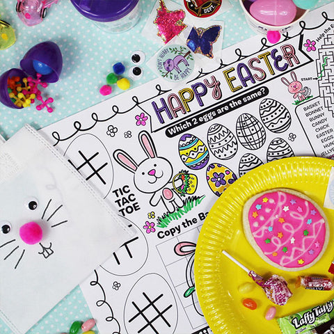 Happy Easter Activity Placemat Downloadable Template