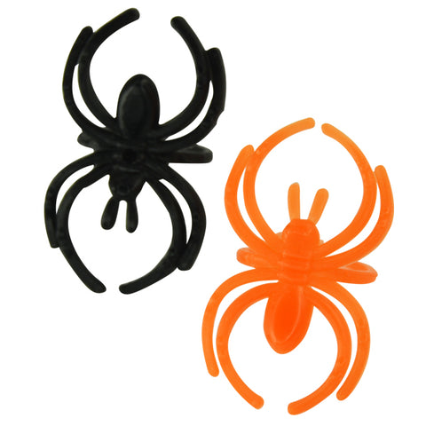 Black and Orange Spider Rings