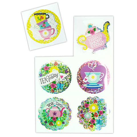 Sparkle Tea Party Stickers