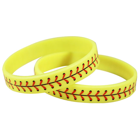 Softball Silicone Wristbands