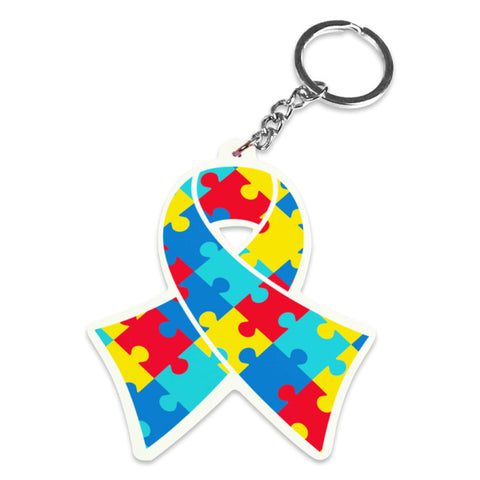 Autism Awareness Silicone Keychains