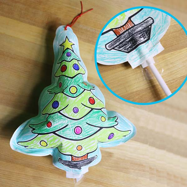 DIY Holiday Inflate Ornaments