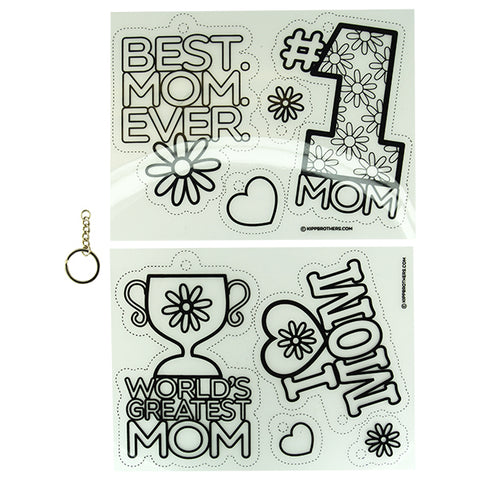 I Heart Mom DIY Shrink Film Keychain Kit