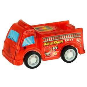 Miniature Pull Back Firetrucks