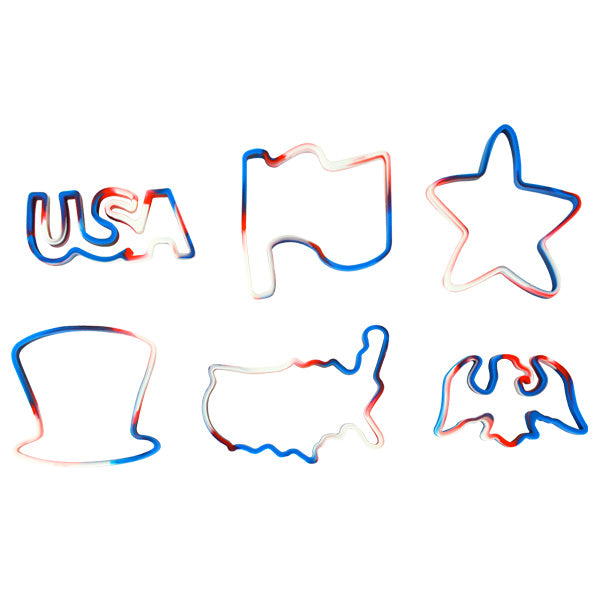 Patriotic Jumbo Silicone Shape Bands
