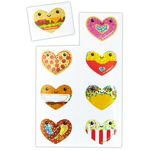 Sparkle Heart Food Stickers