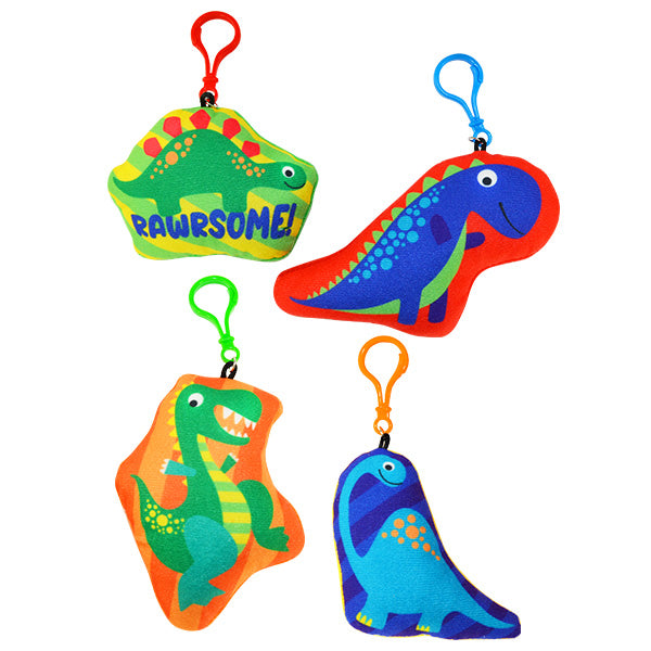 Dinosaur Stuffed Backpack Clips