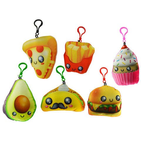 Cute Food Stuffed Backpack Clips