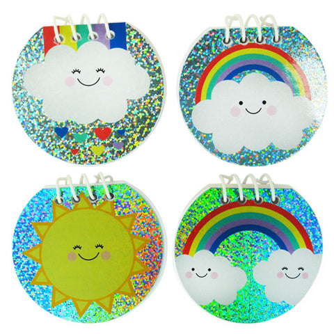 Sparkle Rainbow Sunshine Notebooks