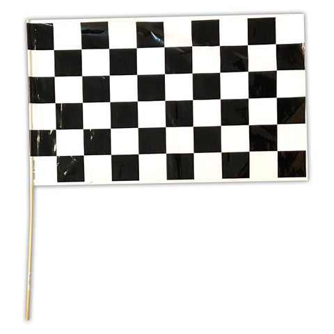 "11"" x 17"" Plastic Checkered Flags"